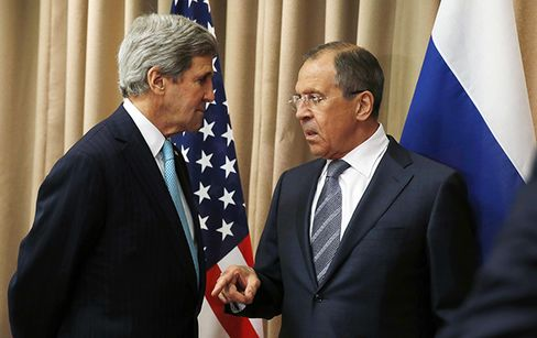 U.S. Secretary of State John Kerry and Counterpart Sergei Lavrov