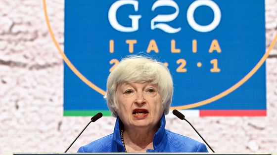 Yellen Sets Out Rough Timeline for Congress on Global Tax Deal
