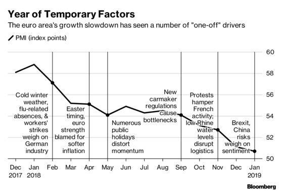 ECB's 'Temporary Slowdown' Narrative Approaches One-Year Mark