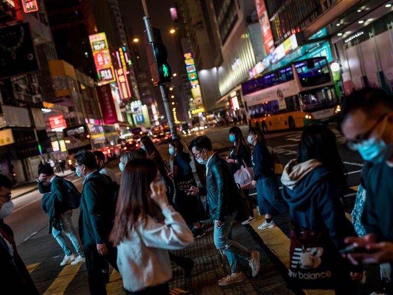 Hong Kong Commuters As Coronavirus Fears Linger