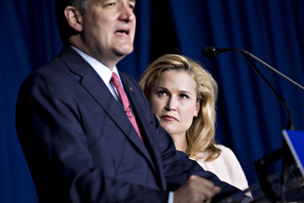 Heidi Cruz and husband Ted Cruz.