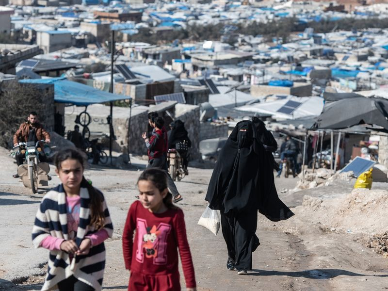 Syrian Refugee Camps Swell As Idlib Offensive Pushes Towards Turkish Border