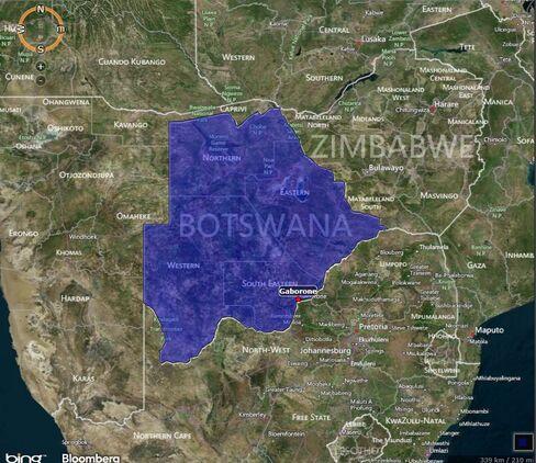MAP: Botswana