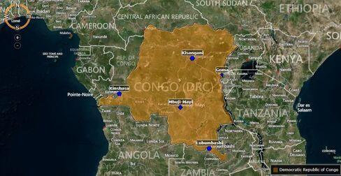 MAP: Democratic Republic of Congo