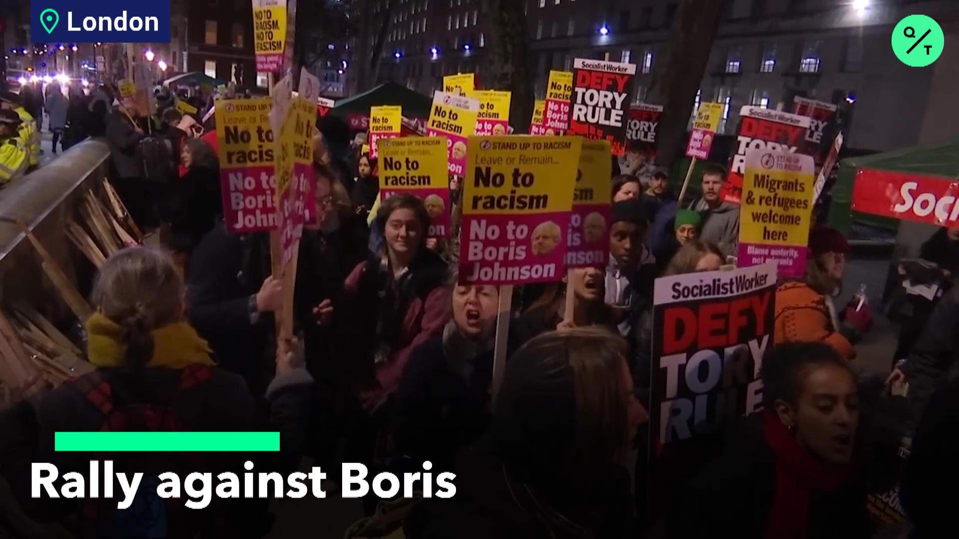 Protesters Take To London Streets