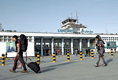 Amount of capital entering Afghanistan's main airport in 2011: $800 million. Amount of money passengers shipped out in their baggage: $4.6 billion