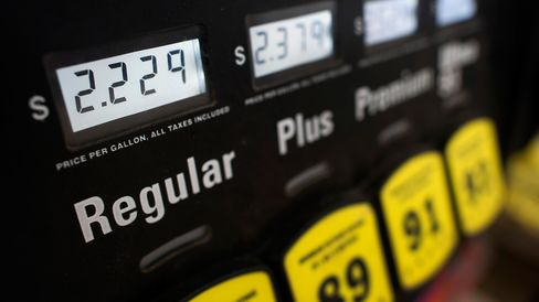 The price of fuel is seen on a pump at a Sunoco Inc. gas station in Rockbridge, Ohio, U.S., on Wednesday, Dec. 17, 2014.