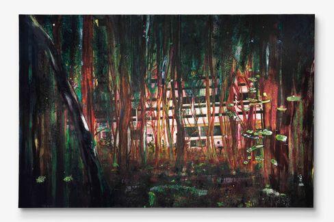Peter Doig, Cabin Essence (1993-1994).