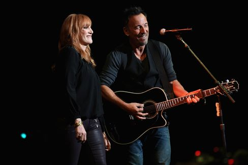 Patti Scialfa and Bruce Springsteen at the 2014 Stand Up For Heroes