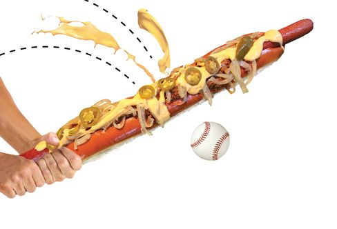 The Texas Rangers'Boomstick is 2 feet long and has more than 2,700 calories.