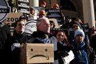 Demonstrators Protest While City Hall Addresses Economic Impact Of Amazon's New Headquarters