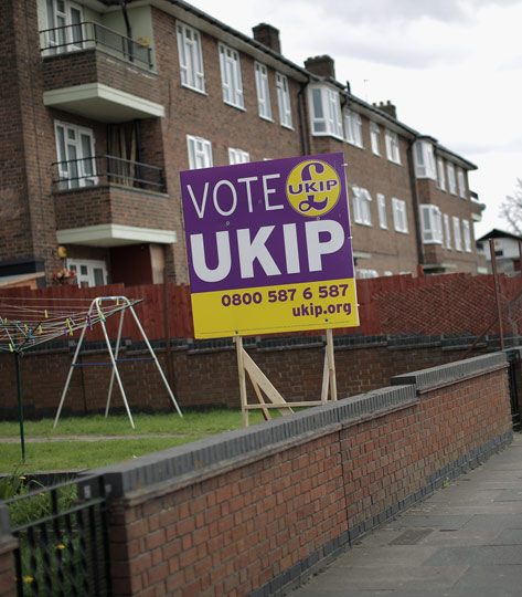 UKIP support in South Ockendon, Essex.