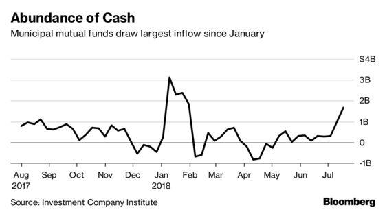 Municipal-Bond Funds Draw Flood of Cash as Market Extends Gains