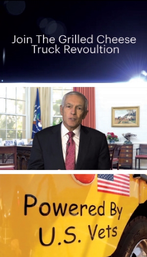 Shots from the Grilled Cheese Truck investor video.