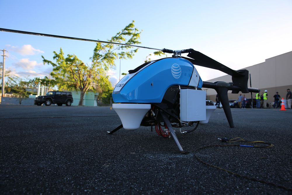 Att Deploys Flying Cow Drone For Cell Service In Puerto Rico