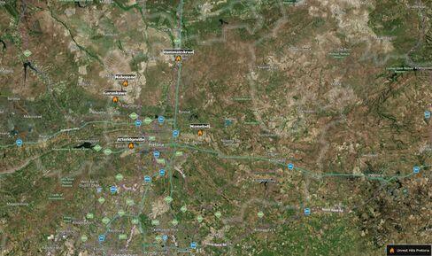 Areas on unrest in Pretoria on June 20