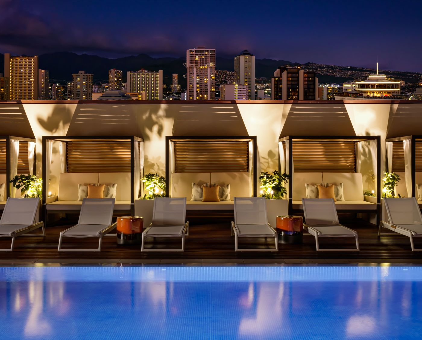 Cabanas at the new Halepuna Waikiki