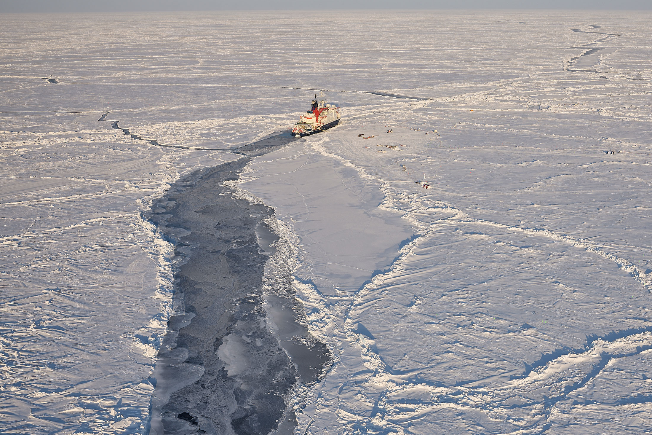 The Polarstern arctic research vessel in April 2020.