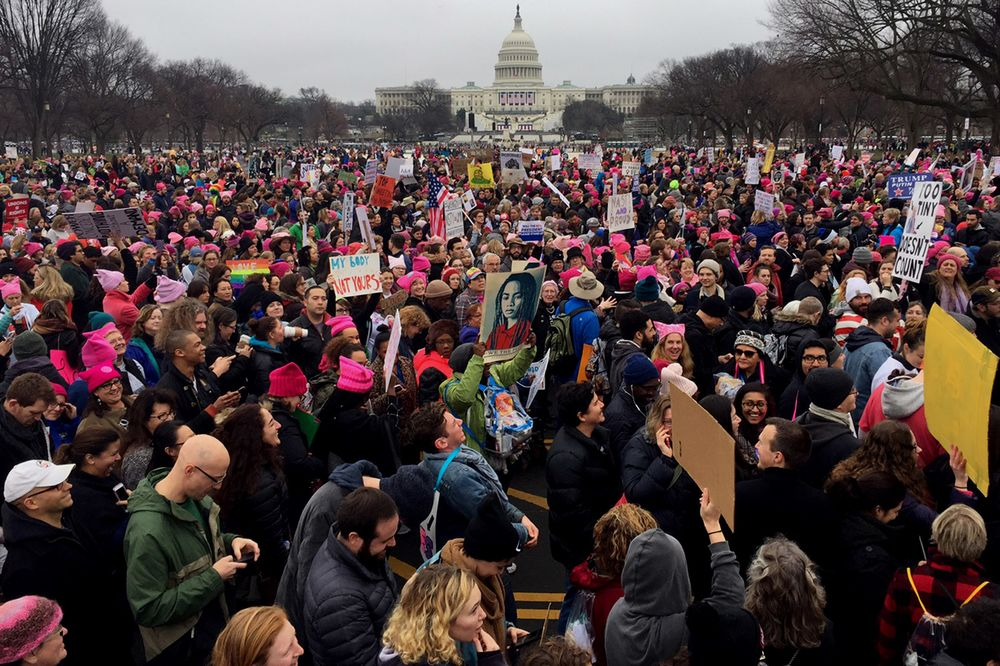 Women's Marches Flood Cities Worldwide on Trump's First Day