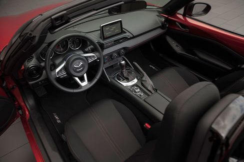 The compact interior.
