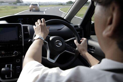 A Nissan Serena minivan equipped with ProPilot self-driving technology. Photographer: Kiyoshi Ota/Bloomberg