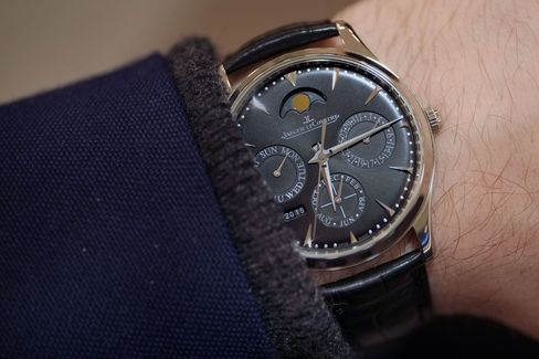Price and style find great balance in the Jaeger-LeCoultre Master Perpetual.
