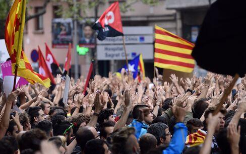 バルセロナの抗議行動(3日)