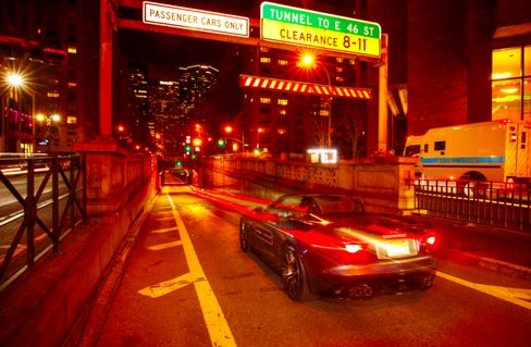 This tunnel runsabout seven blocks, plenty of time for the Jaguar F-Type SVR to yowl.