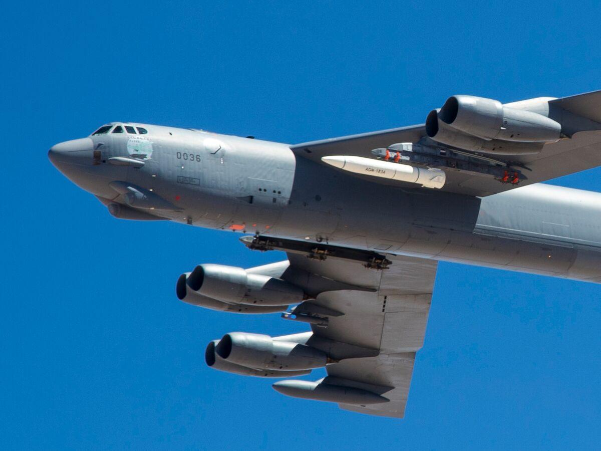 <p>Pentagon Sending B-52s, Carrier to Guard Afghanistan Withdrawal thumbnail