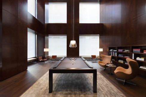 The billiards room and library.