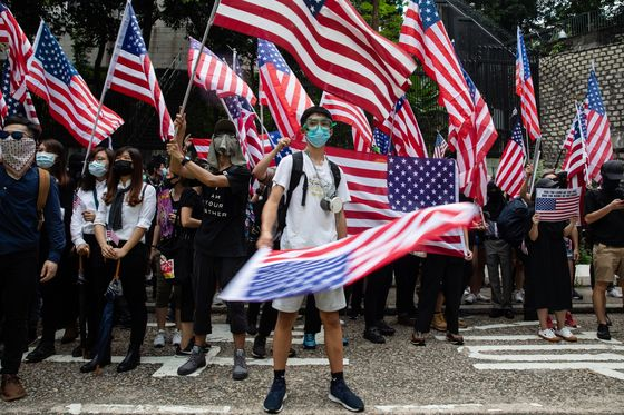 Hong Kong's Leader Opposes U.S. Bill as Protesters Appeal to Trump