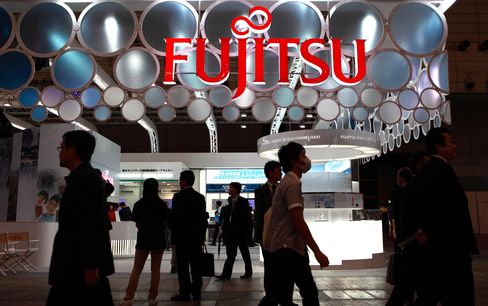 Fujitsu Cuts Profit Target 42% as Thai Floods Disrupt Output