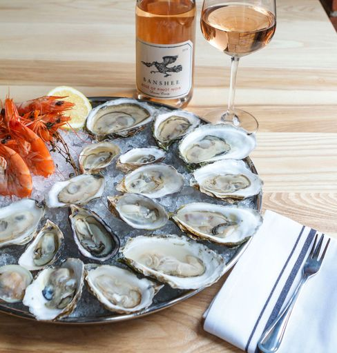Select Oyster Bar features a sensational wine selection and local crudos, such as this raw plate.