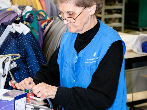 Originally from Sicily, 79-year-old Marianna Aquista has been working at Brooks Brothers for more than20 years.