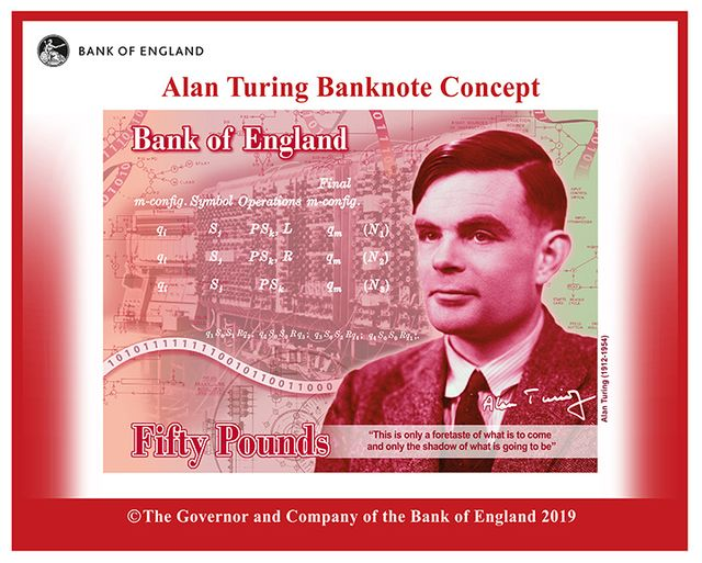Code-Breaker Alan Turing Will Be Face of U.K.'s New £50 Note