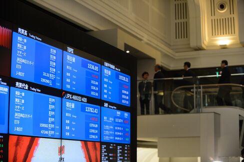 東証内の株価ボード