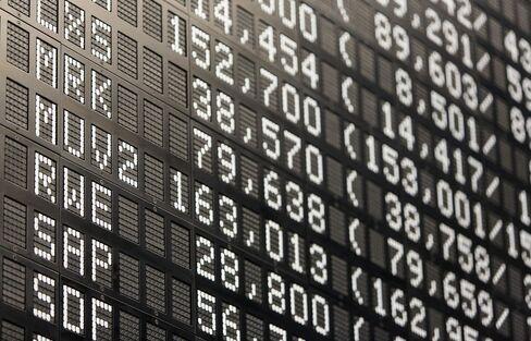 Frankfurt Stock Exchange As Dollar Drops Amid Big Global Currency Swings