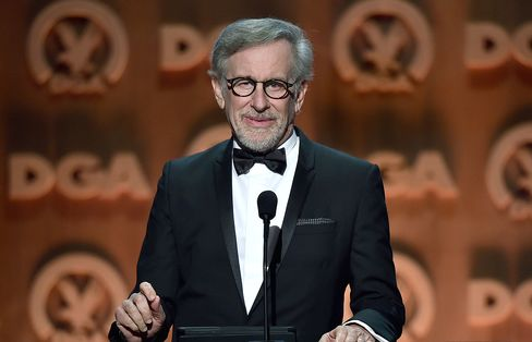 Director Steven Spielberg speaks onstage at the 67th Annual Directors Guild Of America Awards at the Hyatt Regency Century Plaza on Feb. 7, 2015 in Century City, California.