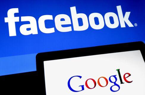 フェイスブックとグーグルの会社ロゴ