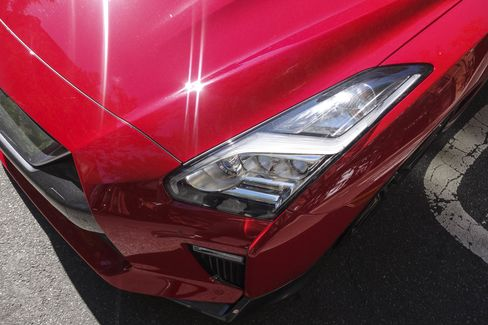 The GT-R comes standard with LED headlights and LED daytime running lights.