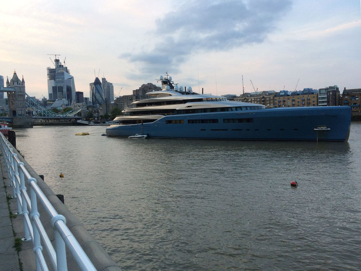 U K  Tycoon Festoons $257 Million Yacht With Bacon Artwork