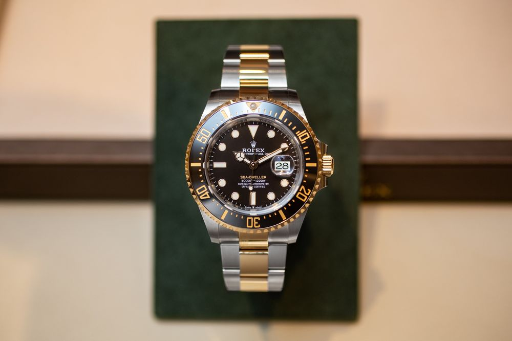 Rolex Sea,Dweller in Two,Tone Steel and Yellow Gold Hands