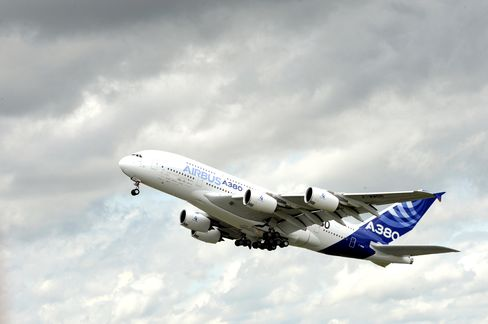 Airbus Extends 2011 Lead Over Boeing in Jet Orders