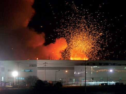 A 2006 explosion at Takata's factory in Mexico.