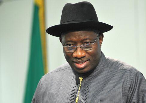 Nigeria's acting president Goodluck Jonathan