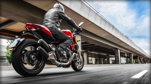The Ducati Monster 1200S's unmistakable profile