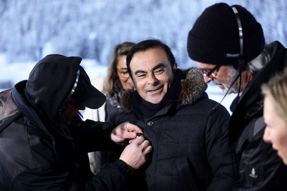 Ghosn Makes Another Bid for Bail as His Peers Fly to Davos