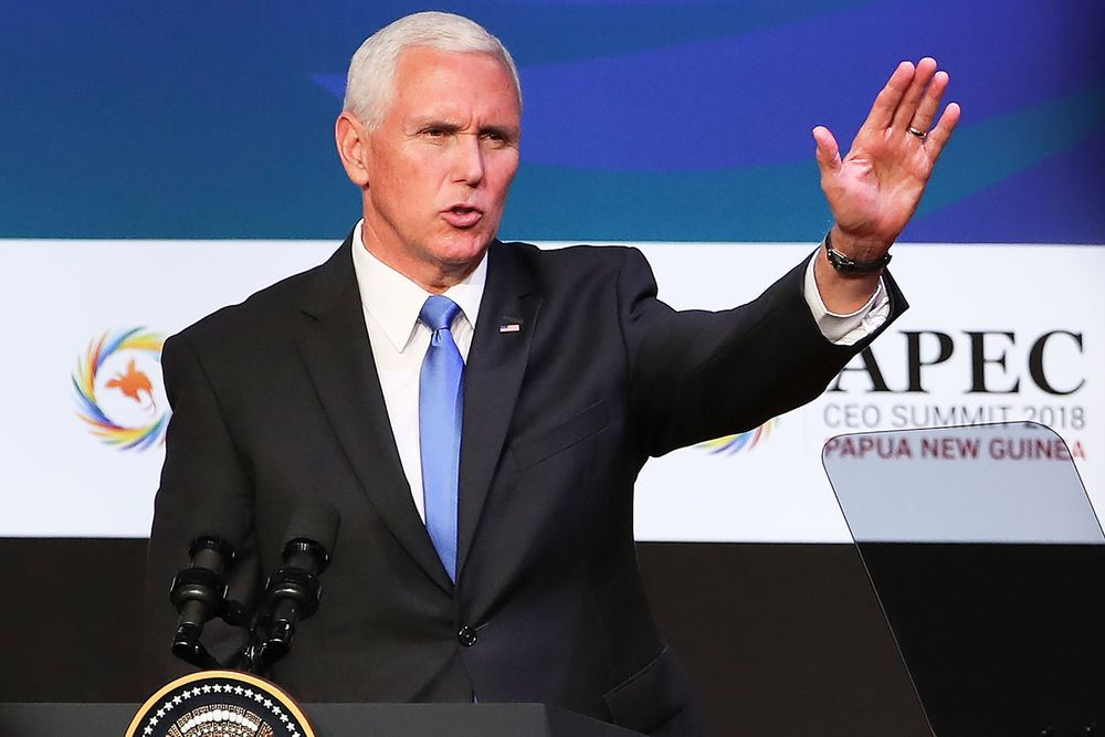 Pence-Xi Showdown at APEC Shows U.S.-China Divide Only Widening