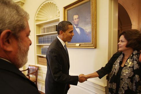 Lula, Obama and Rousseff in 2009.