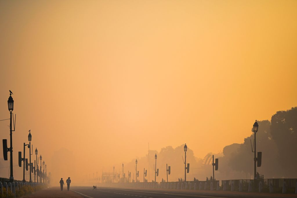 Early-morning smog in New Delhi.